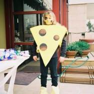Me, dressed as a cheese (Purim)