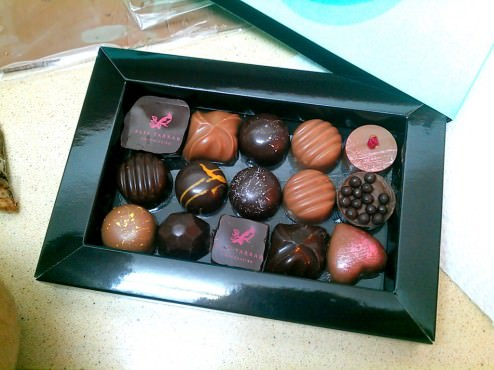 I remember especially liking (not wanting to share): 1. the top row second column from left; 2. the little heart; 3. the top row forth from the left with some roasted coconut.