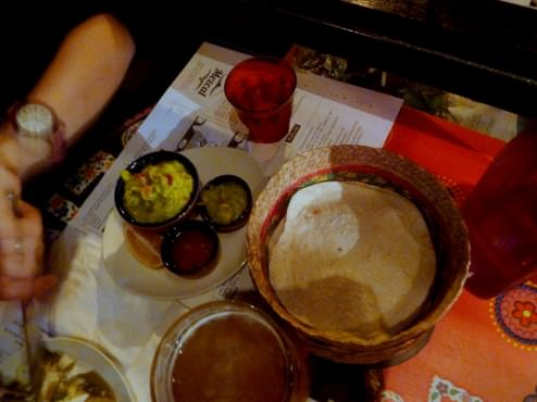 Came with tortillas, salsa and guacamole on the side. We also ordered extra guacamole (8 NIS). The dips and tortillas were great.