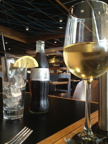 As a part of the lunch menu, wine and desserts are 25% off, so we found something to celebrate.
