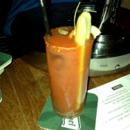 Bloody Maria: Tequila, tomato juice, tabasco and a branch of celery (40 NIS)