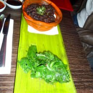Served with white rice, black beans, Swiss chard, red and green chimichurri sauce (230 NIS)