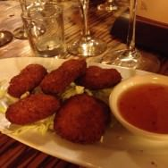 Shrimp Patties - Tom Man Goung - Fried shrimp patties with a sweet and spicy sauce (32 ILS). Excellent dish