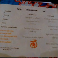 set menu of 4 dishes for 35 euro