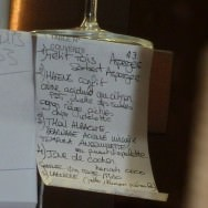 Today's menu - as spotted in the kitchen with my camera - see if you can understand any of it.