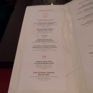 The menu a la carte - some of the dishes from the tasting menu there.