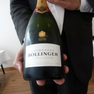 Two glasses of Champagne Bollinger Special Cuvée Brut on the house. A really nice gesture