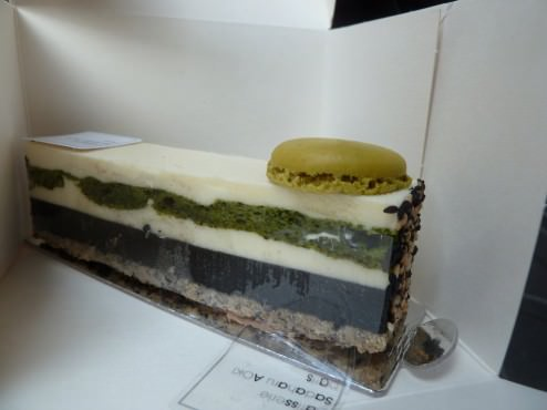 Zen: Sesame paste, Cognac Rémy-Martin, Matcha Macaron, Hazel Nut Biscuit, sesame creme and chocolate cream