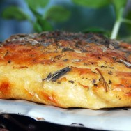 Focaccia, olive oil, thyme and sage
