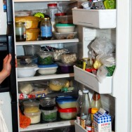 In the meantime, in the kitchen - the fridge is packed with goodness.