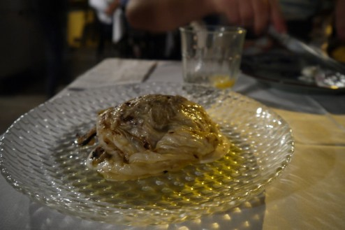 Grilled Octopus and Pickled Arab Cabbage (59 ILS). Not a pretty dish but had some sort of Magic.