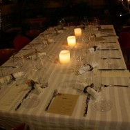 The set table