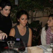 Noa pouring the wine