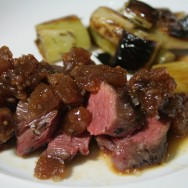 Pork substitute: Veal tenderloin cooked sous-vide with apple marmalade instead :)